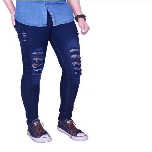 Foto Produk celana jeans biru sobek / celana jeans panjang / celana jeans slimfit - 27 dari Waryulion fashion