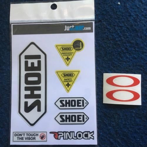 Foto Produk Sticker Logo Helm Dan Sticker Visor SHOEI (free oakley) dari Justiker