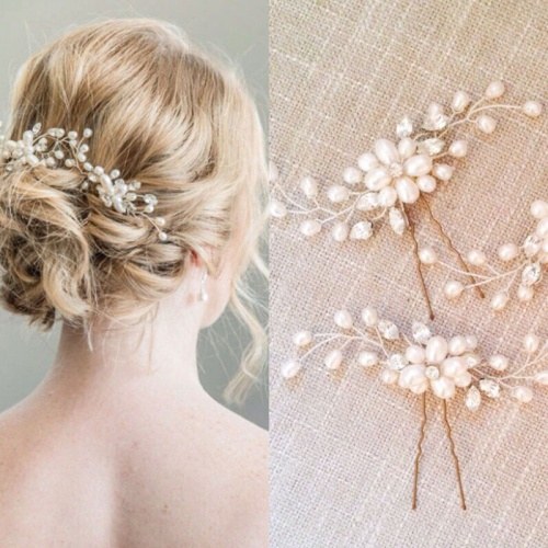 Foto Produk Headpiece Hairpiece Aksesoris Hiasan Rambut Pesta Hair pin Hairpin - Silver dari fairystuffs