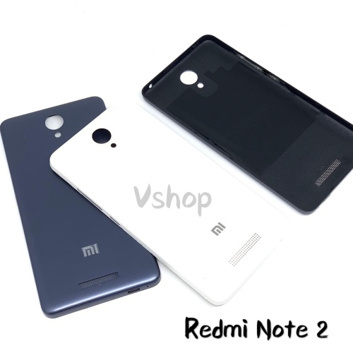 Foto Produk Backdoor Casing Belakang Tutupan Baterai Xiaomi Redmi Note 2 B/W - Hitam dari vshop sparepart