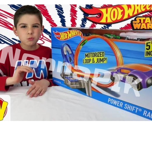 Foto Produk Hot Wheels Power Shift Raceway Track & 5 Race Vehicles Set dari NonnaPIK