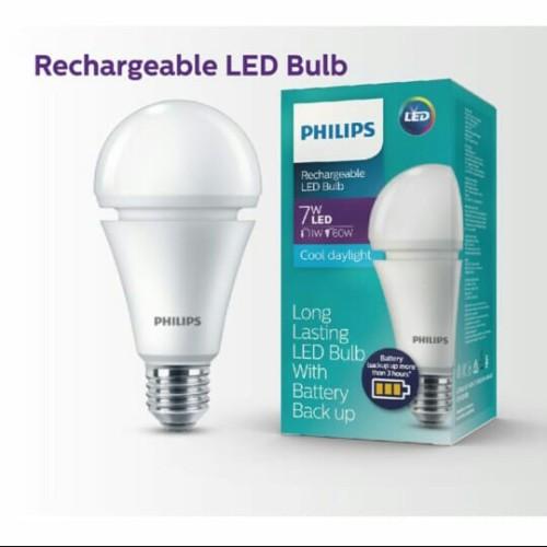 Foto Produk Philips Emergency Rechargeable LED Bulb 7 Watt 6500K dari CV Sumber Cahaya Baru