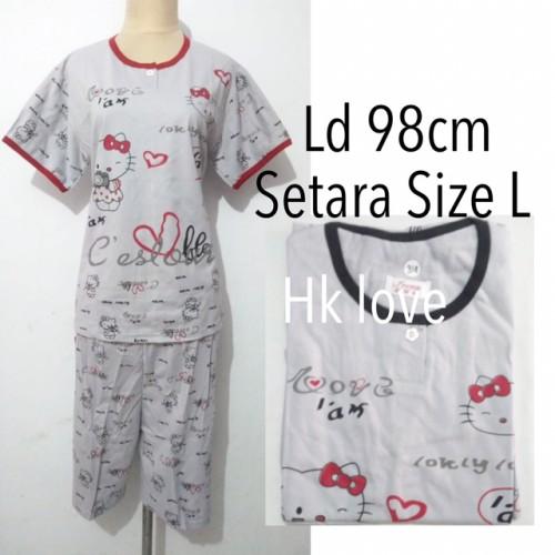 Foto Produk piyama baju tidur dewasa wanita celana pendek kaos karakter unik dari Nina fashion 13