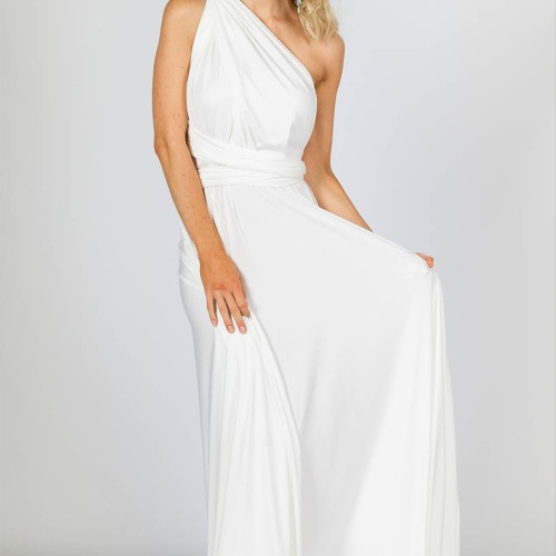 Foto Produk Multiway maxi infinity confertible dress white putih bridesmaid bride dari OSGROSIR SURABAYA