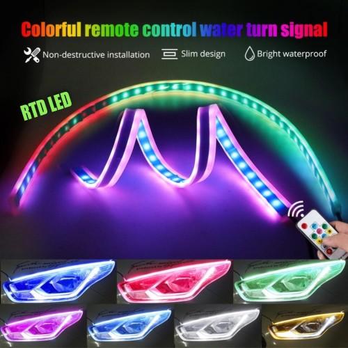 Foto Produk Lampu Alis RGB Drl Flexibel Slim RGB Remote Rubah Warna 30 Cm R166 dari RTD LED