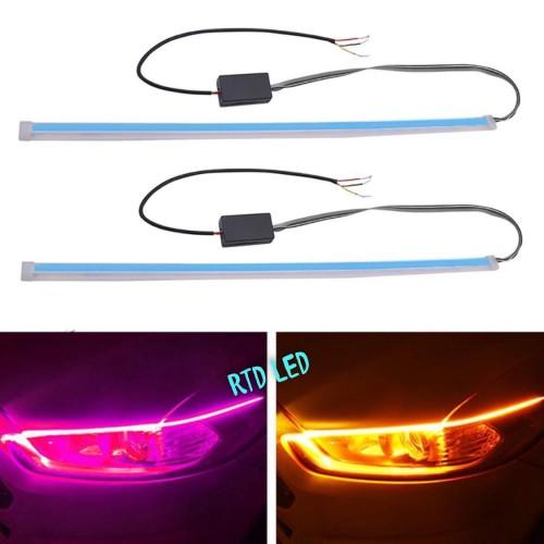 Foto Produk Drl flexibel Slim 30 Cm Waterproof 2 Pcs Sepasang R0172 - Merah dari RTD LED