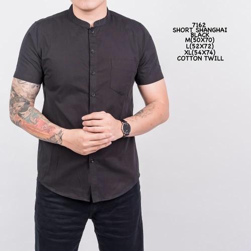 Foto Produk Kemeja Polos Hitam Pria Kantor Kerja Slimfit Katun / Baju Cowok - M dari ALJOSA