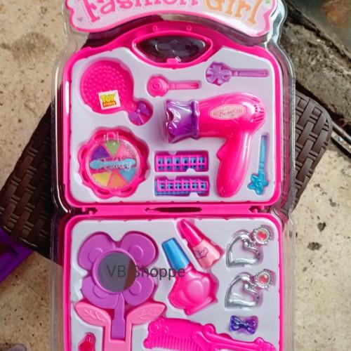 Foto Produk Mainan salon salonan koper set hair dryer make up jepitan hair clip dari VB Shoppe