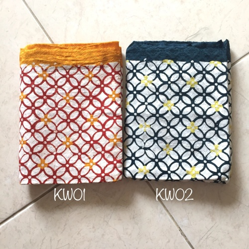 Foto Produk Kain Batik Cap Doby motif Kawung / kain lilit / rok lilit dari Thearia Batik