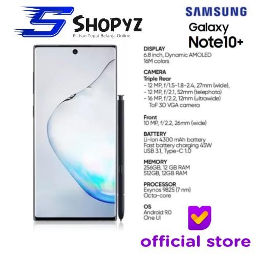 Foto Produk SAMSUNG GALAXY NOTE 10+ 10 PLUS - 512GB / 12GB - GARANSI RESMI SEIN - Aura Glow dari Shopyz ID