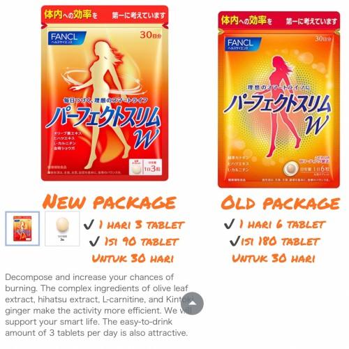 Foto Produk FANCL Perfect Slim W Alpha (30days) 180 tablets dari All About Beauty Stuff