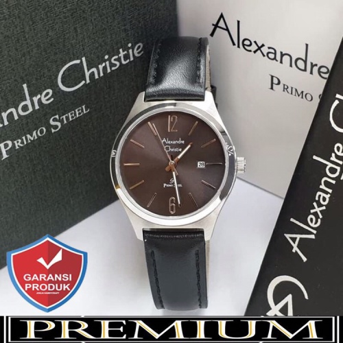 Foto Produk Jam Tangan Wanita Alexandre Christie AC 1009 Leather Silver Black Ori dari YM_store27