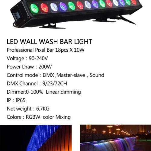 Foto Produk Wallwasher 18x10W RGBW 4in1 waterproof IP65 dari DUNIA LAMPU LIGHTING