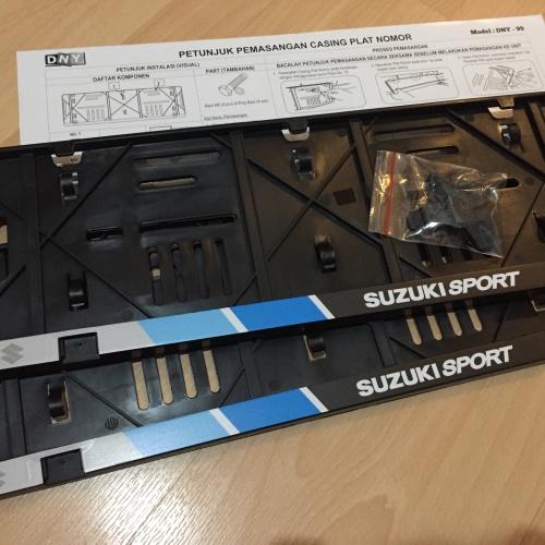 Foto Produk frame plat Suzuki sport - ukuran plat 46cm dari jdm.garage shop