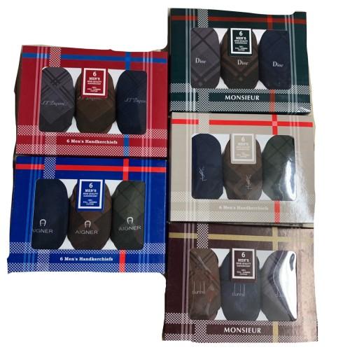 Foto Produk Sapu tangan katun pria berbagai merk 6pcs dari Mens_underware.ID