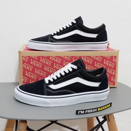 Foto Produk Sepatu Vans Old Skool Classic Black White DT Premium oldskool dari Fresh Banana