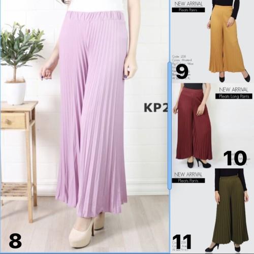 Foto Produk Celana kulot wanita / Pleats Long Pants Woman / Celana Kulot dari Luna Libby