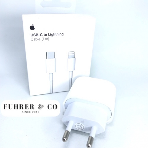 Foto Produk Charger Adaptor Apple Ipad Pro Iphone 18W 3A with Cable Lightning to C dari Fuhrer Shop