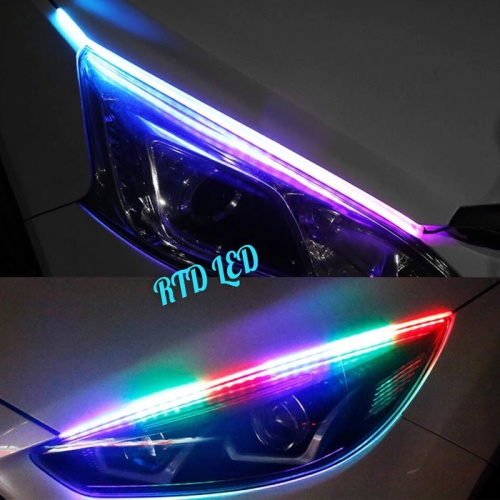 Foto Produk Lampu Alis RGB Drl Flexibel Slim RGB Remote Rubah Warna 45 Cm HS R167 dari RTD LED