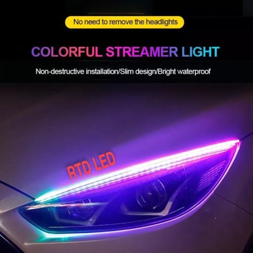 Foto Produk Lampu Alis RGB Drl Flexibel Slim RGB Remote Rubah Warna 30 Cm HS R166 dari RTD LED