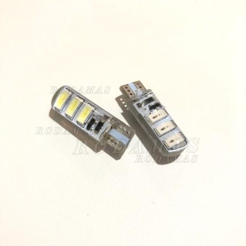 Foto Produk T10 Crystal Jelly 6 Mata STROBO/Kedip Led 5730 Lampu Senja Sen/Sein dari Rodamas