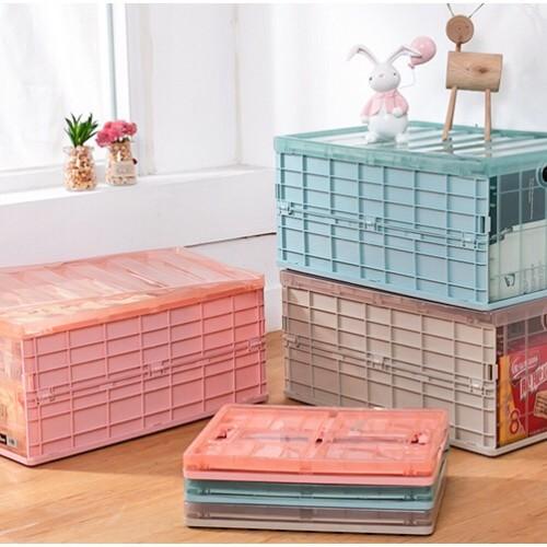 Foto Produk Large Foldable Container Box Tempat Penyimpanan - Khaki dari Brandystore