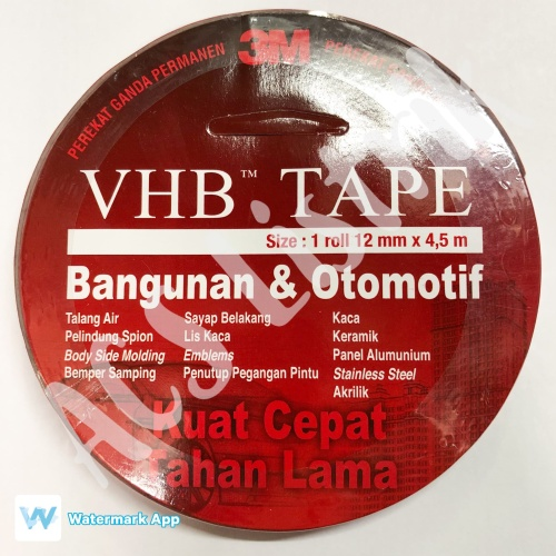 Foto Produk 3M VHB Double Tape 12mm x 4.5mtr dari ACS Listrik