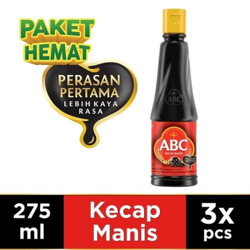 Foto Produk ABC Kecap Manis 275 ml - Multi Pack 3 pcs dari ABC Official Store