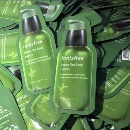 Foto Produk INNISFREE GREEN TEA SEED SERUM SAMPLE SACHET SIZE 1ml inisfree ori dari dustinolshop