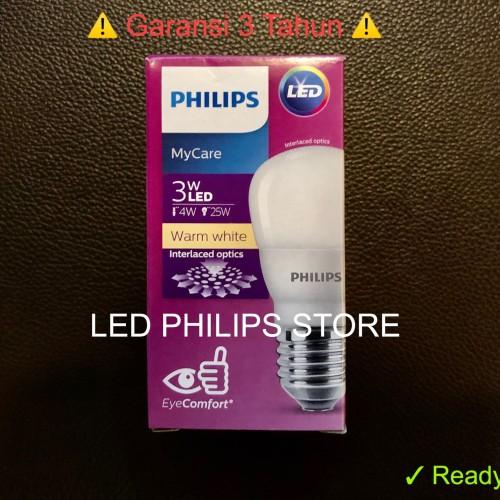 Foto Produk Lampu Bohlam LED Philips 3 Watt Kuning/Warm White (3W 3 W 3Watt) dari LED Philips Store