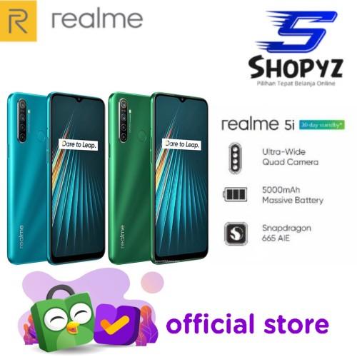 Foto Produk REALME 5i - 4GB 64GB - 4/64 - 5000mAh MASSIVE BATTERY - GARANSI RESMI - Ocean Blue dari Shopyz ID