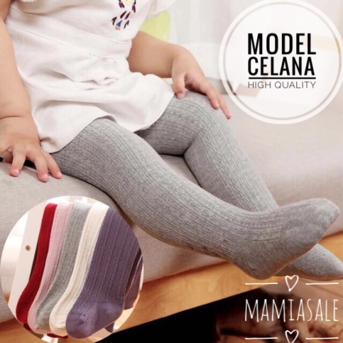 Foto Produk LEGGING BAYI STRETCH POLOS leging baby anak tutup kaki unisex boy girl dari Mamia Sale
