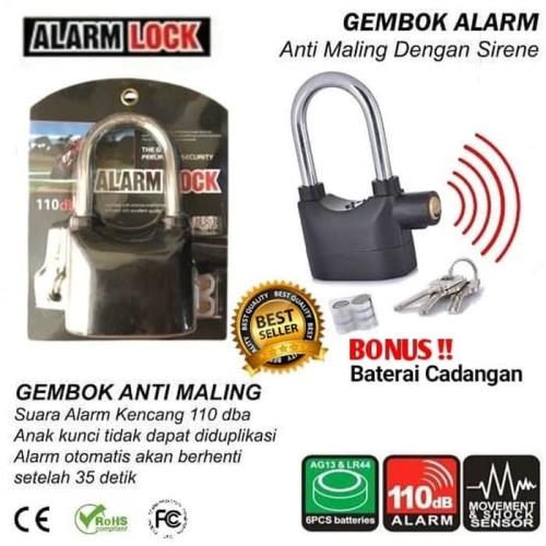 Foto Produk ORIGINAL Gembok Alarm Suara Anti Maling Anti Pencuri Ring dari xrbshop168