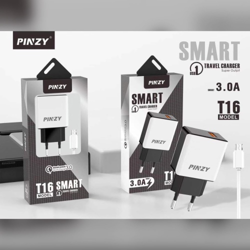 Foto Produk PINZY Charger T16 Series Support Qualcomm Quick Charge 3.0 dari PINZY Official Store