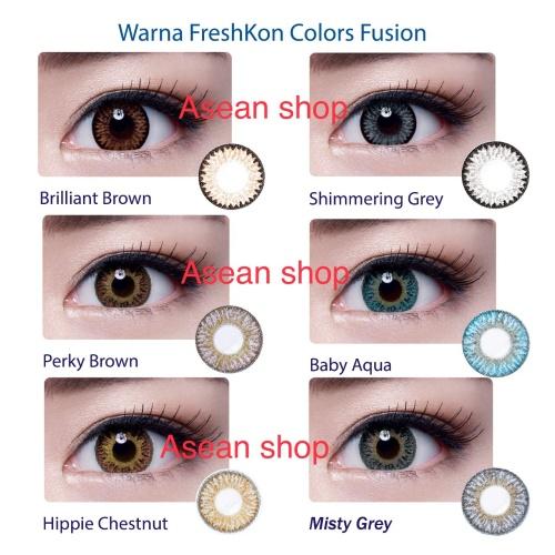 Foto Produk [PROMO] softlens Freshkon color fusion untuk mata sensitif READY MINUS dari ASEAN Shop