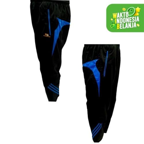 Foto Produk celana training gym fitness running champion hitam turquise - M dari Pusat Grosir OLAHRAGA