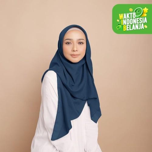 Foto Produk Diario - Hijab Wanita Plain Scarf Voal Blue Series - Navy dari diario