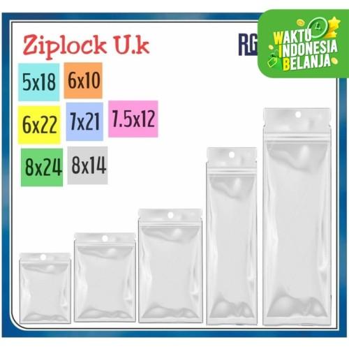 Foto Produk Plastik ziplock Ukuran 5x18 /6x10 /6x22 /7.5x12 /7x21 /8x14 /8x24 cm - 7 5 x 12 cm dari RG AKSESORIS HP