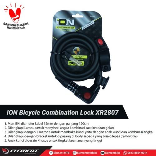Foto Produk ION 2807 Gembok Sepeda/Lock Sepeda/Kunci Sepeda (New) dari ElementIndonesia