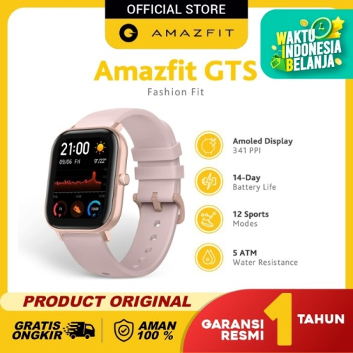 Foto Produk Amazfit GTS Smartwatch Fashion Fit International Version Garansi Resmi - Rose Pink dari Amazfit Official