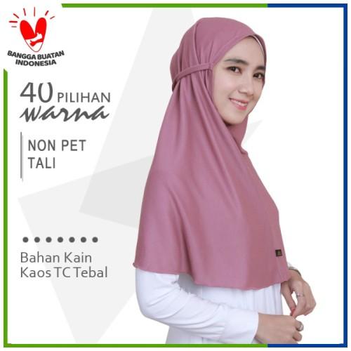 Foto Produk Jilbab Non Pet Tali L Mazoya Hijab Kaos Khimar Kerudung Instan Bergo dari Jilbab Mazoya