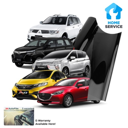 Foto Produk Kaca Film 3M ORIGINAL CRYSALLINE + BLACK BEAUTY medium car dari 3M AutoFilm