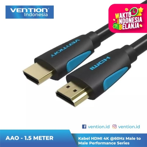 Foto Produk Vention 1.5M Kabel HDMI Male to HDMI Male v2.0 High Speed Ultra HD 4K - AAO dari Vention Indonesia