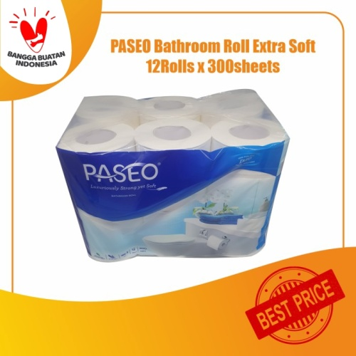 Foto Produk Tissue PASEO Bathroom Roll EXTRA SOFT 12Roll (300sheets - 3ply) dari KiosCepat
