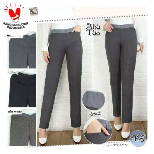 Foto Produk Celana Kerja Wanita Celana Kantor Wanita Celana Kain M sampai Jumbo - Abu Tua, M dari Nani Batik Pekalongan