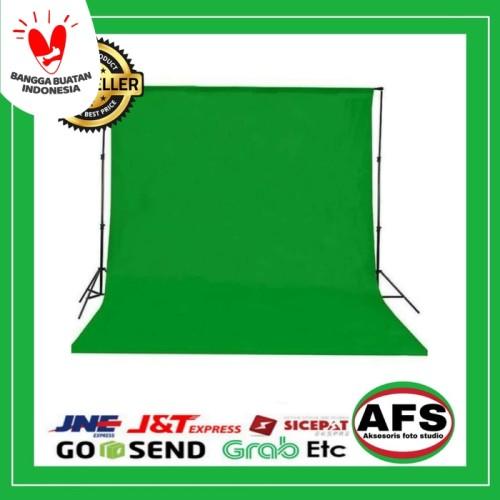 Foto Produk Background warna hijau(green screen) 2,7x 3 m foto studio dari Aksesoris Foto Studio