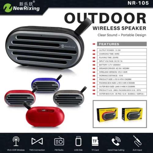 Foto Produk ORIGINAL SPEAKER Bluetooth Outdoor Newrixing NR-105 dari PINZY Official Store