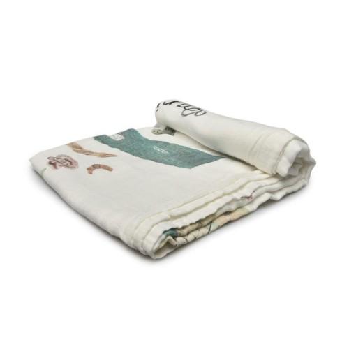 Foto Produk CozybyCHloe Muslin Blanket 70% bamboo 30% cotton-Paris dari Cozybychloe