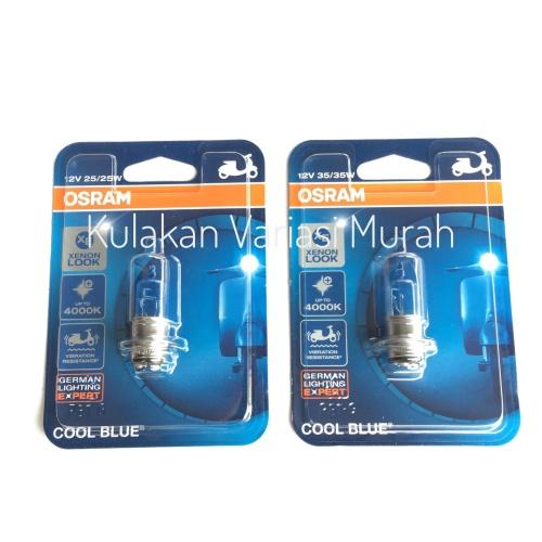 Foto Produk Osram Cool Blue H6 Kaki-1 Lampu Depan Halogen Motor Bebek Matic Honda - 35Watt dari Kulakan Variasi Murah