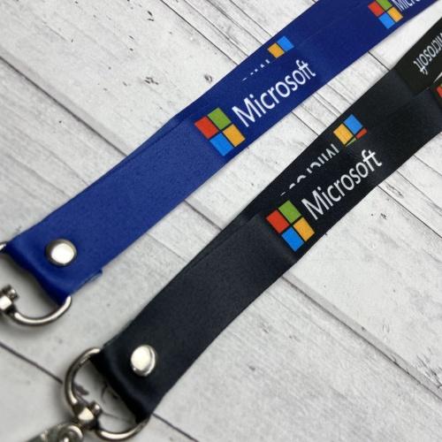 Foto Produk Lanyard Printing Microsoft - Hitam dari Manome Official